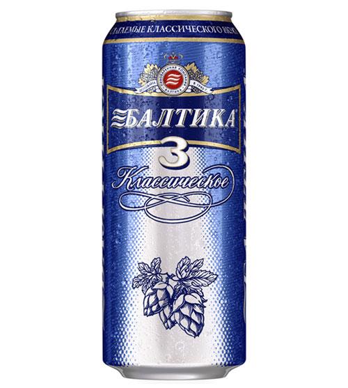 Пиво Балтика №3 классическое  0,5л.