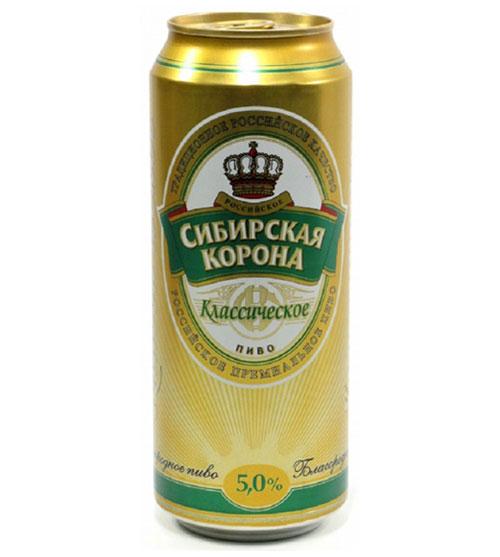 Пиво  Сибирская Корона классическое. 0,5л.