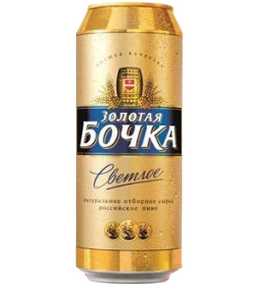 Пиво Золотая бочка классическое 0,5л.